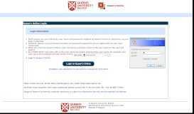 Queen's Online : Login - Queen's University Belfast