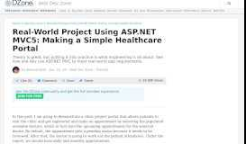 Real-World Project Using ASP.NET MVC5: Making a Simple ... - DZone