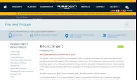 Recruitment   Fire and Rescue - Fairfax County