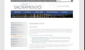 Recruitment Status - City of Sacramento
