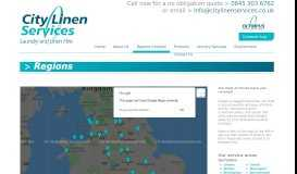 Regions Covered - City Linen Services