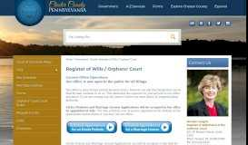 Register of Wills / Orphans' Court | Chester County, PA - Official Website