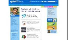 Register Your Child - Peel District School Board