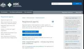 Registered agents   ASIC - Australian Securities and Investments ...