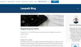 Registering For PAYG - LawPath