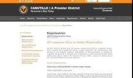 Registration - Canutillo Independent School District - Canutillo ISD