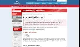 Registration - Recreation and Leisure - City of Winnipeg