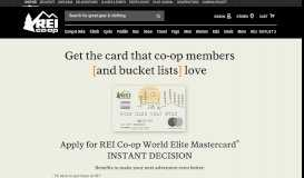 REI Mastercard | Instant Credit Decision Access | REI Co-op