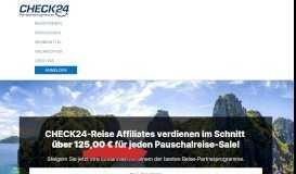 Reisen - CHECK24-Partnerprogramm