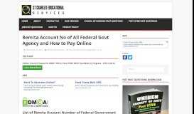 Remita Account No of All Federal Govt Agency and How to Pay Online