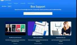 Reset My Box Account Password - Box