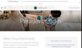 Resident Login | Cortland - Cortland Partners