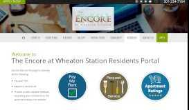 Residents Portal - The Encore at Wheaton Station
