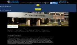 Resources - Twin Cities Orthopedics