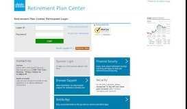 Retirement Plan Center Participant Login - Charles Schwab