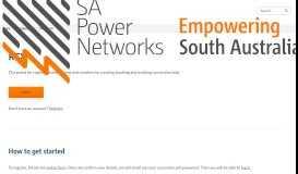 REX Portal - SA Power Networks