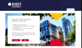 RMIT Apply Online (not Logged In) - Register or Login