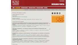 Robert Lechler - Research Portal, King's College, London