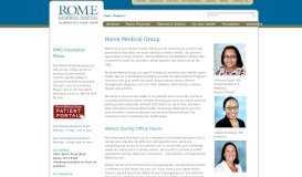 Rome Medical Group - Rome Memorial Hospital