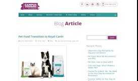 Royal Canin Transition   Campus Commons Pet Hospital