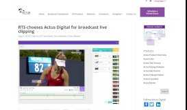 RTS chooses Actus Digital for broadcast live clipping - Actus Digital