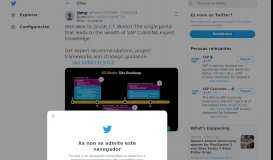 SAP no Twitter: