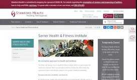 Sarner Health & Fitness Institute-Fairield County, CT-Stamford Health