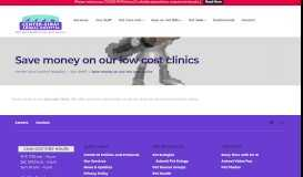 Save money on our low cost clinics - Center-Sinai Animal Hospital