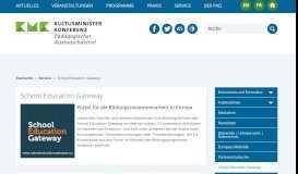 School Education Gateway - KMK-PAD