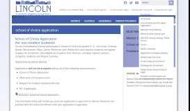 School of Choice - Enrollment - Home - Lincoln Consolidated Schools