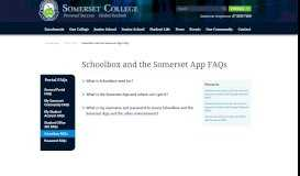 Schoolbox and the Somerset App FAQs | Portals | Somerset College ...