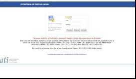 SDS - LOGIN PORTAL WEB - Secretaria de Defesa Social