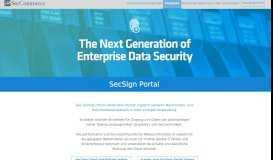 SecSign Portal - SecCommerce
