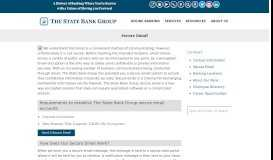 Secure Email | The State Bank Group