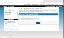 Security > Login (existing user) > Education Abroad - VCU Education ...