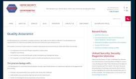 Security Quality Assurance | Professional Security Services | USI