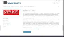 Seeburger AG   Governikus KG