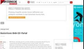 Seeburger lockt: Kostenloses Web-EDI-Portal - computerwoche.de
