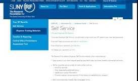 Self Service - RF for SUNY