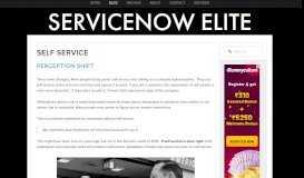 Self Service — ServiceNow Elite