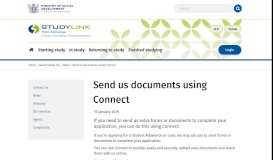 Send us documents using Connect - StudyLink
