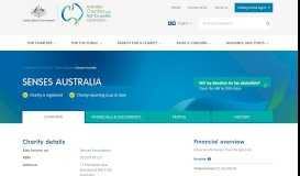 Senses Australia | Australian Charities and Not-for-profits Commission