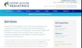 Services - Central + Priority Pediatrics