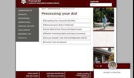 SFAID - Processing your Aid - TAMU Financial Aid - Texas A&M ...