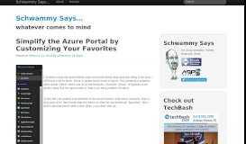 Simplify the Azure Portal by Customizing Your Favorites | Schwammy ...
