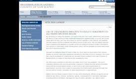 Site Disclaimer for MIDX and Open Access - San Mateo County ...