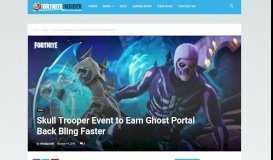 Skull Trooper Event to Earn Ghost Portal Back Bling Faster   Fortnite ...