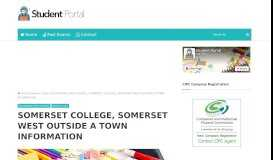 SOMERSET COLLEGE, SOMERSET WEST OUTSIDE ... - Student Portal