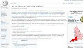 South Western Ambulance Service - Wikipedia