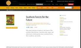 Southern Forests for the Future | World Resources Institute